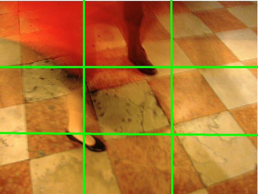Fotografie Tanz in venedig - Drittelteilung