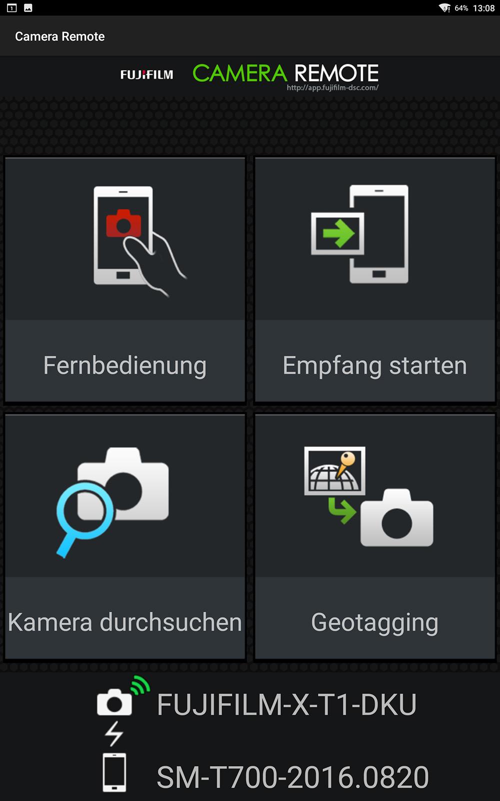 Fernsteuerungs-App für meine Kamera