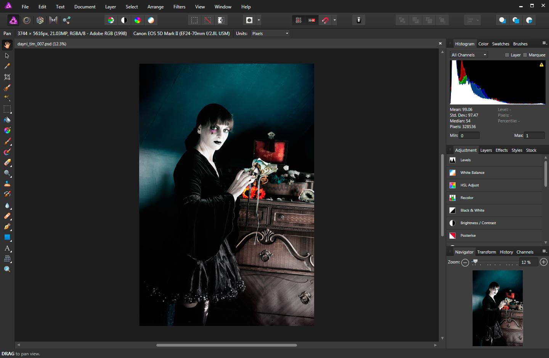Die Foto-Entwicklungssoftware Affinity tritt gegen Photoshop an.