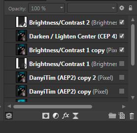 Die Ebenen liste in der Fotosoftware Affinity