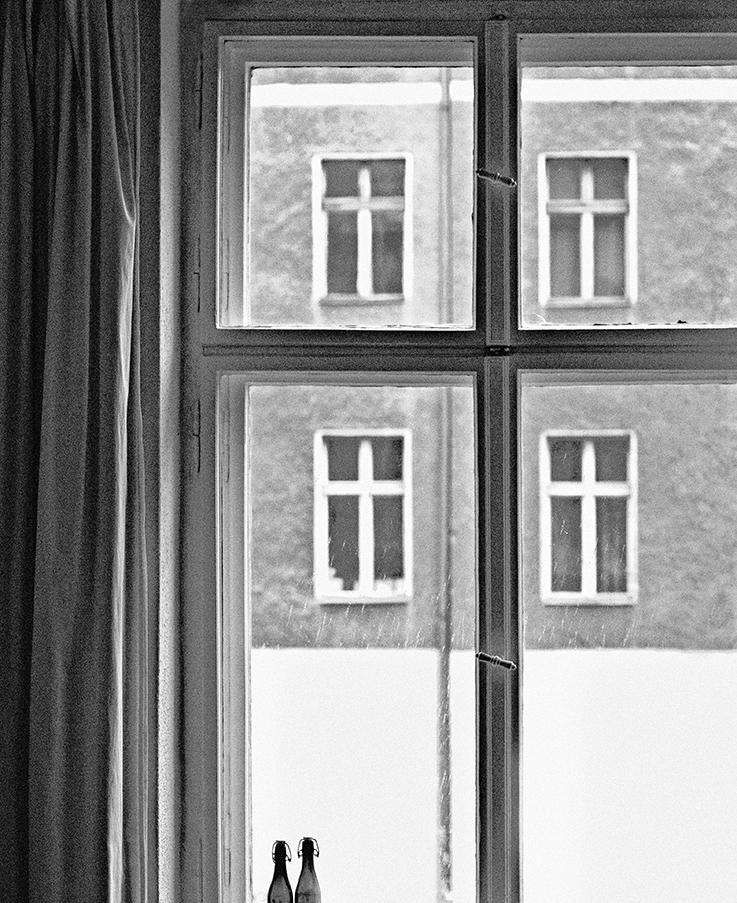 Strenge Geometrie im fesnter. © Hans Georg Sandforth