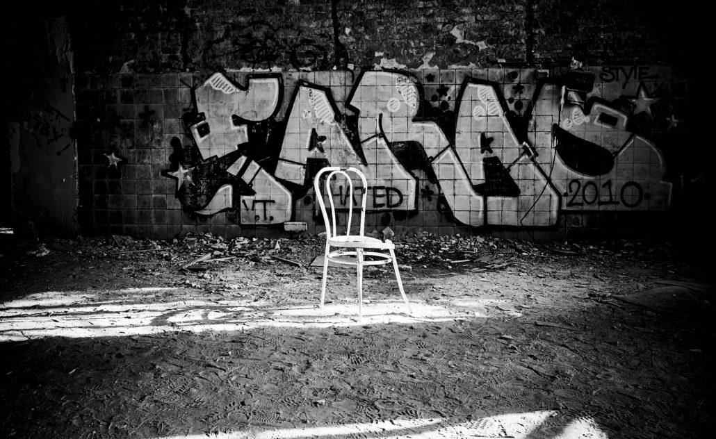Urbex mit Graffito Chirurgie Beelitz, © Thomas Noack