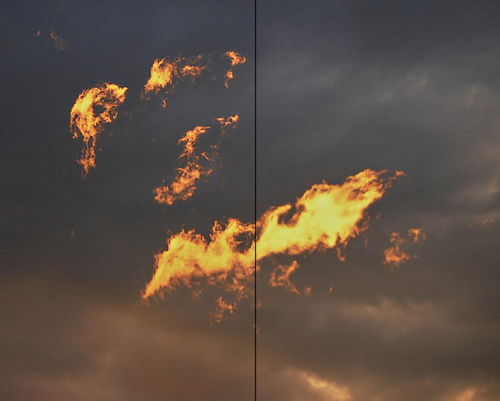 Links die Wirkung des Anti-Verwacklungs-Filter von Photoshop, etwas übertrieben angewandt.