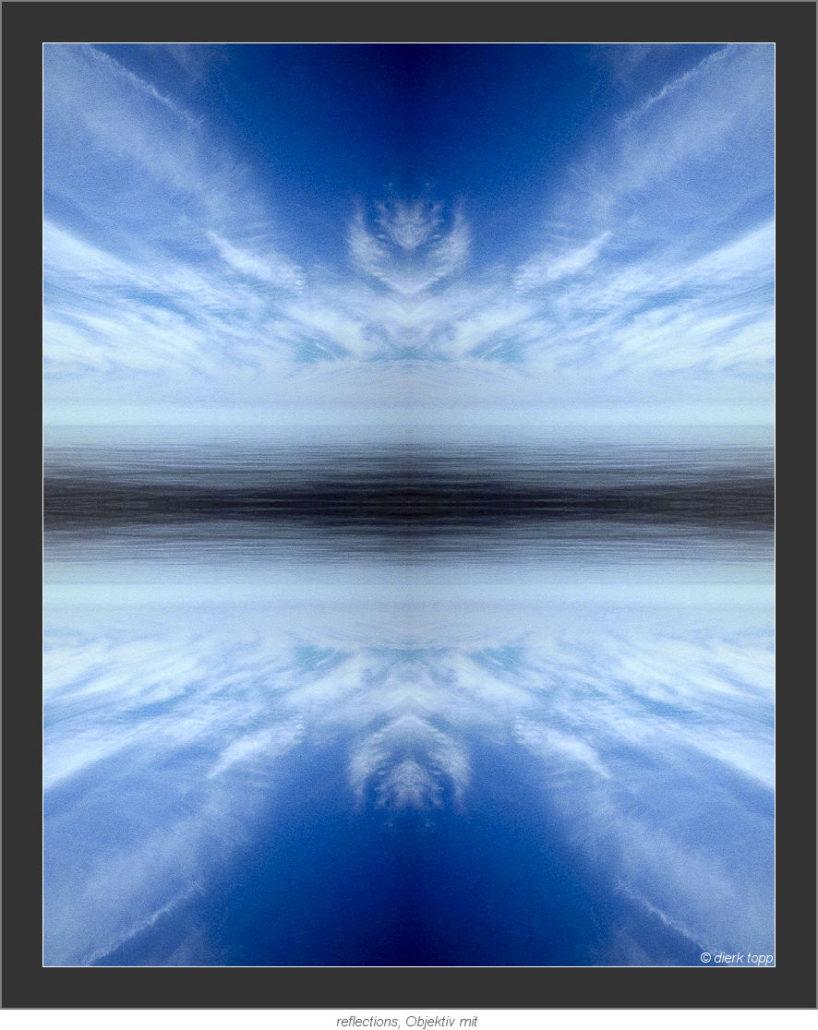 eine vierfach Spiegelung ein Mal links - rechts und dann das Ganze oben - unten (Blick über den Atlantik) © Dierk Topp