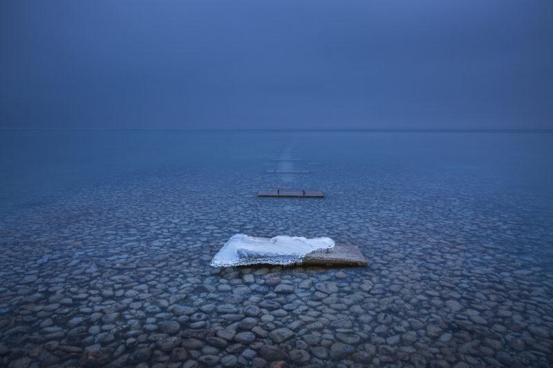Fotografie mit Eis: Bodensee im Winter