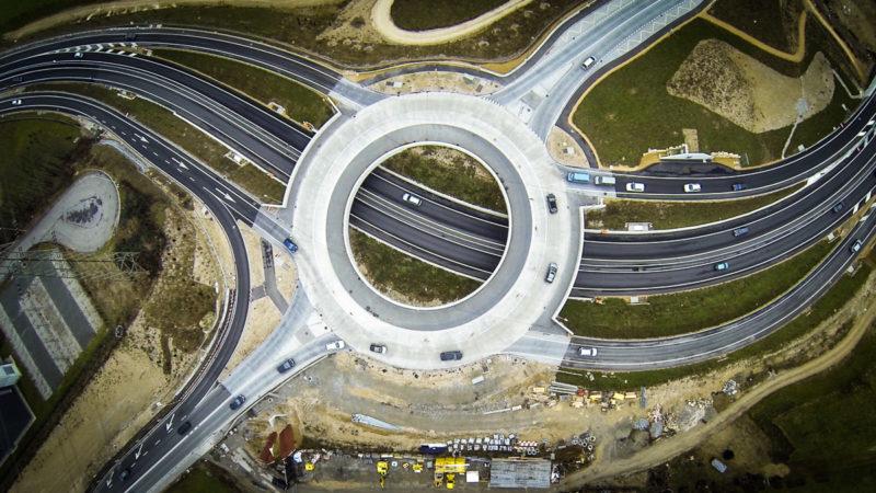Drohnenfotografie Hülftenschanz-Verkehrskreisel