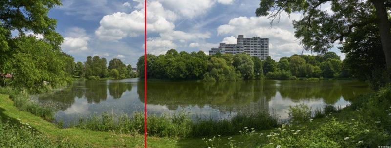 stitch aus 2 Bildern nebeneinander, 21mm