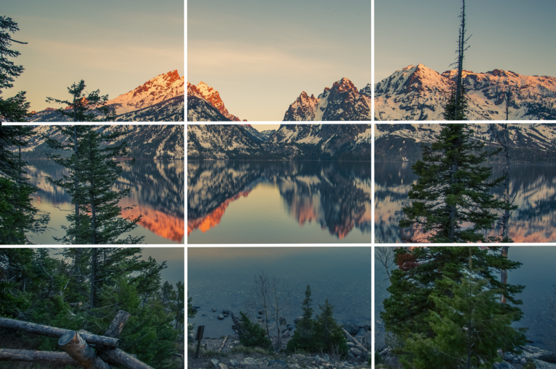 F>otografische Komposition des Teton-Nationalparks