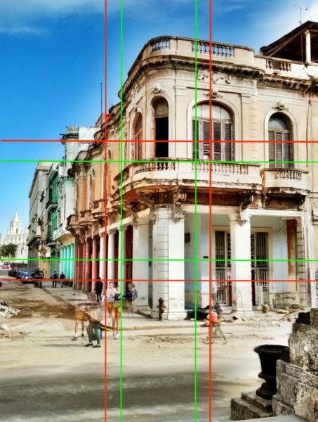 Bildaufteilung Paseo in Havanna