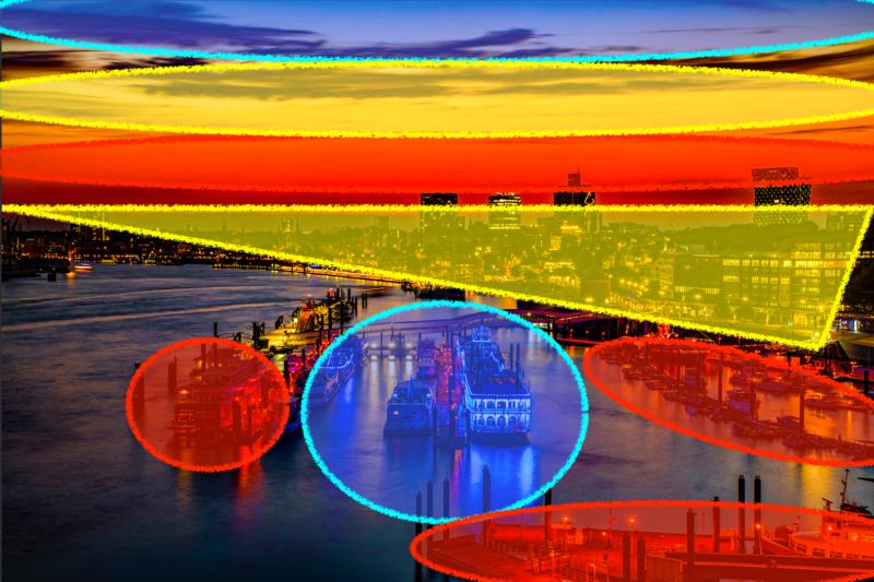 Hamburger Hafen Nachtaufnahme