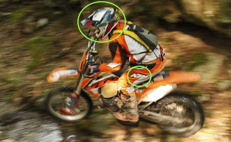 Motocross-Motorrad, Mitzieh-Fotografie