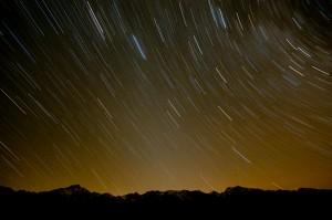 Die 30 minütige Belichtung - das Licht der Venus erhellt die Berge nicht mehr. (©PS)
