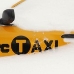 Ein Taxi im Schnee, New York, USA (AP Photo/Aaron Jackson)