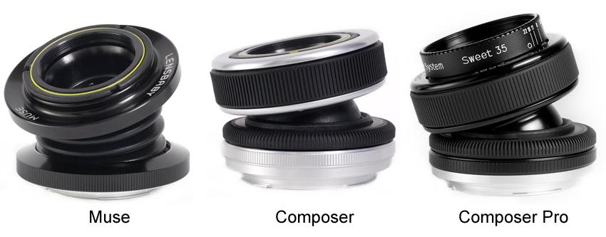 Bild 1: Drei Lensbaby-Objektive
