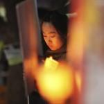 Friedensdemo in Seoul, Südkorea (Keystone/AP Photo/Ahn Young-joon)