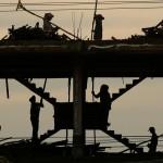 Baustelle in Kambodscha  (AP Photo/Heng Sinith)