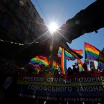 Umzug zum 1. Mai in St. Petersburg, Russland (Keystone/EPA/Anatoly Maltsev)