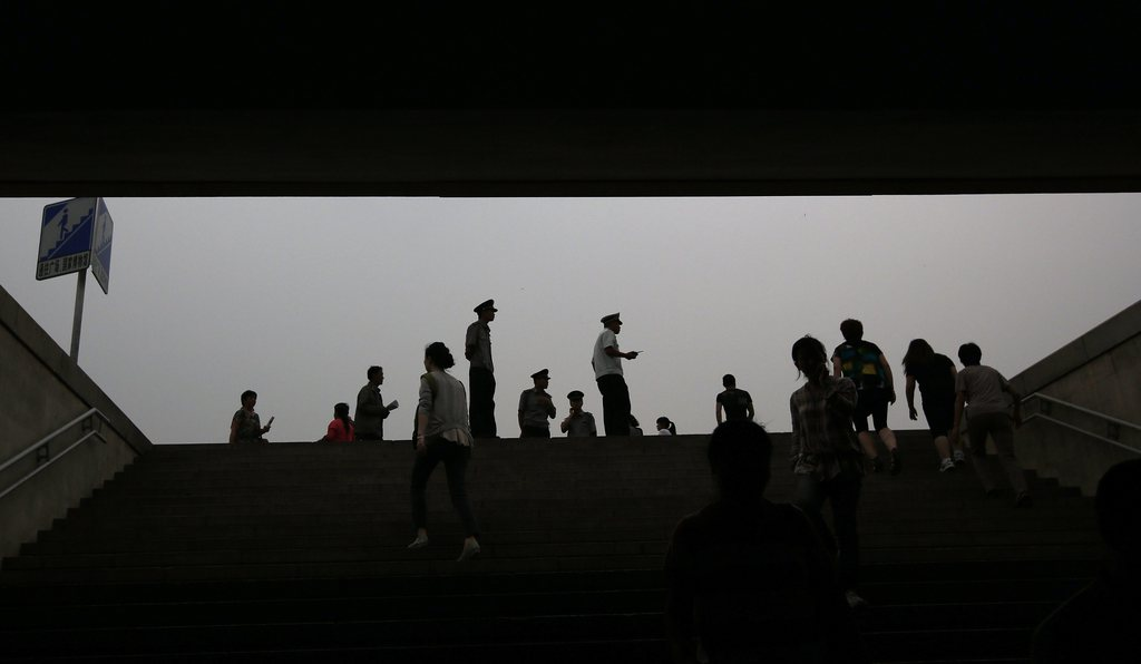 Blick aus dem Untergrund auf dem Tiananmen-Platz, Peking, China  EPA/HOW HWEE YOUNG