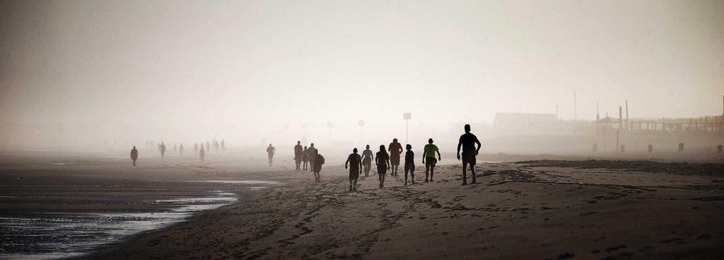 Am Strand von Hoek van Holland EPA/JERRY LAMPEN