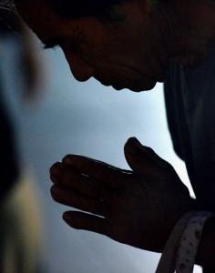 Gebet in Hiroshima zum Jahrestag des Atombombenabwurfs Japan  (AP Photo/Kyodo News)