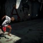 Junge übt in Rio de Janeiro, Brasilien (Keystone/AP Photo/Nicolas Tanner)