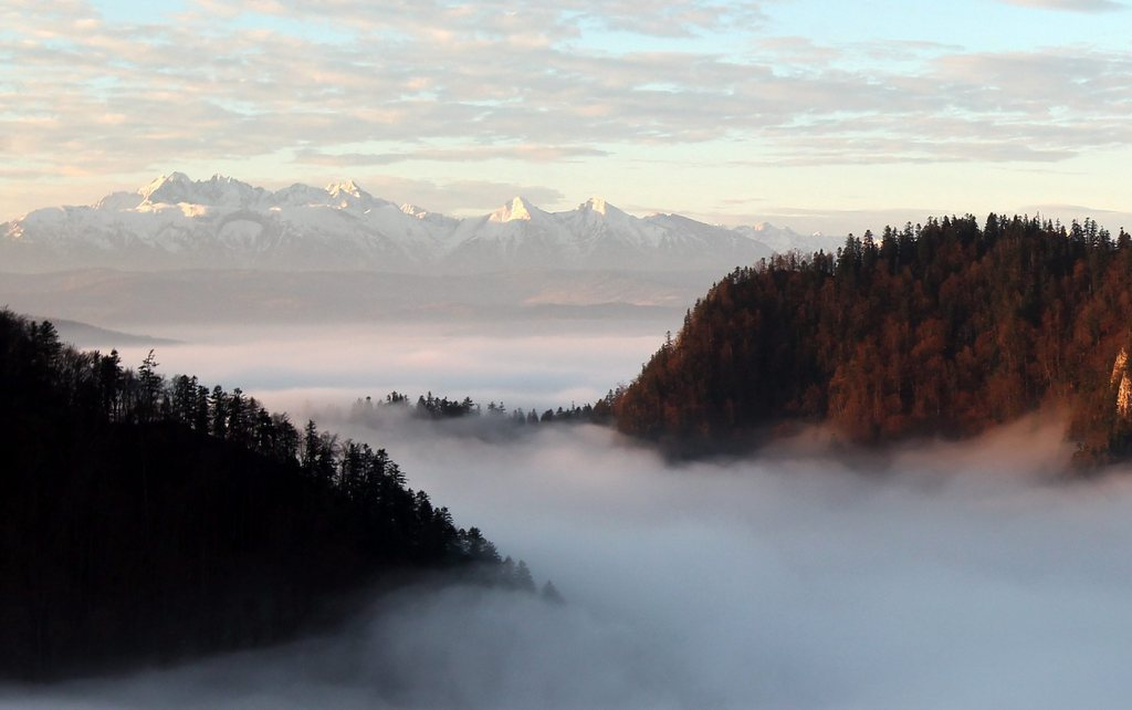 Morgenstimmung über dem Nebel mit Blick auf die Hohe Tatra, Polen EPA/GRZEGORZ MOMOT