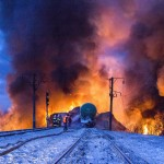 Eisenbahnunglück bei Posdino, Russland (Keystone/AP Photo/Kirov Branch Press Service)