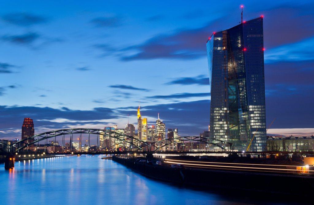 Skyline Frankfurt am Main mit der Europäischen Zentralbank EPA/BORIS ROESSLER