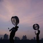 Trommler in Panama-Stadt (AP Photo/Arnulfo Franco)
