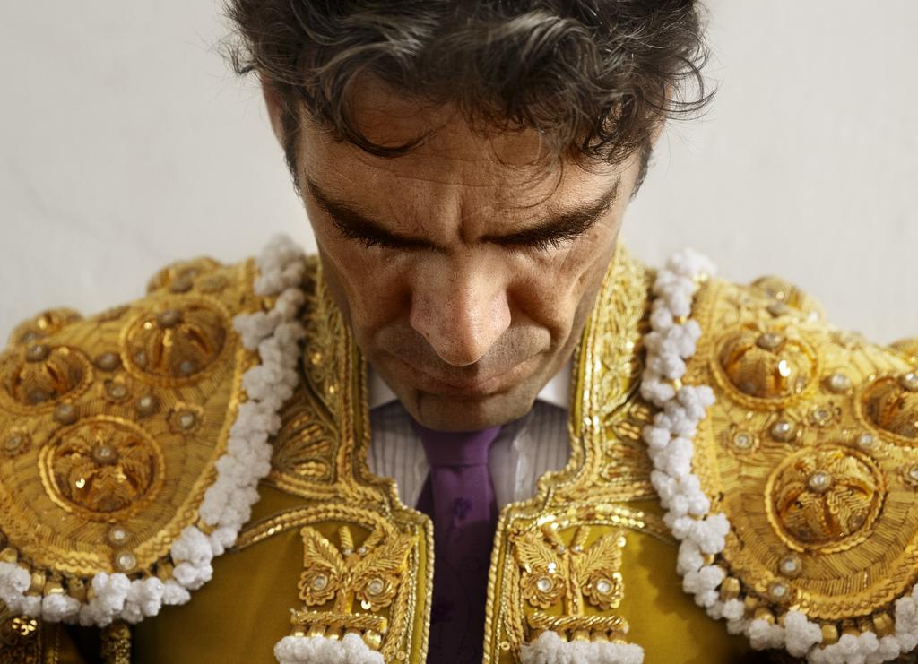 Der Torero Jose Tomas vor einem Kampf, Leon, Spanien (AP Photo/Daniel Ochoa de Olza)