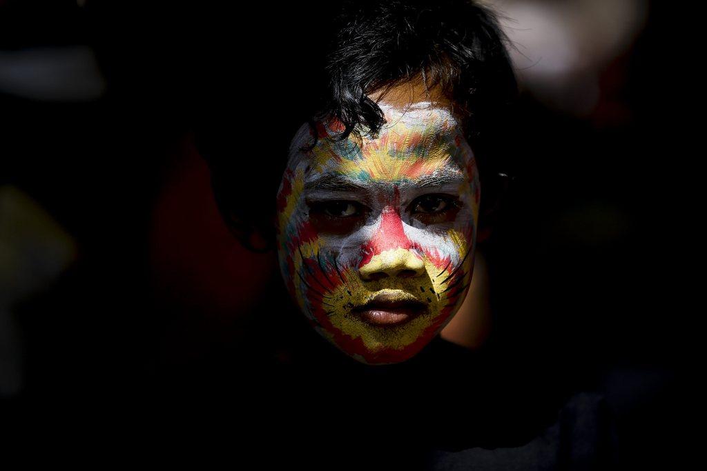 Balinesischer Junge in Gianyar, Indonesien (Keystone/EPA/Made Nagi)