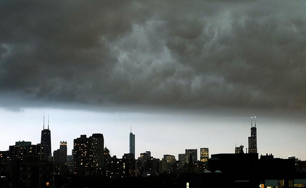 Sturmwolken über Chicago, USA (AP Photo/Kiichiro Sato)