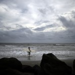 Surfen vor Tybee Island, USA (Keystone/AP Photo/Stephen B. Morton)