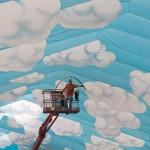 Münchner Himmel: Vorbereitungen auf das kommende Oktoberfest, EPA/PETER KNEFFEL