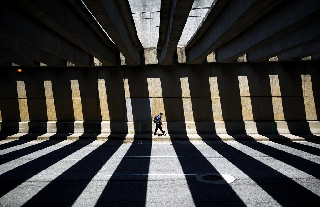 Fußgänger in Atlanta, USA (Keystone/AP Photo/David Goldman)