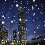 Lichter in der Stadt: Installation in Hongkong (AP Photo/Vincent Yu)