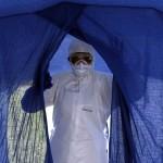 Vorbereitungen in Havana, Kuba, für einen Ebola-Einsaztz in Sierra Leone (Keystone/AP Photo/Ladyrene Perez)