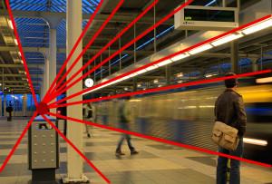 Vergleichsfoto, dynamische Linien