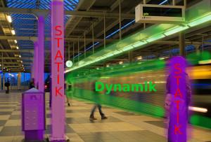 Vergleichsfoto, Dynamik/Statik