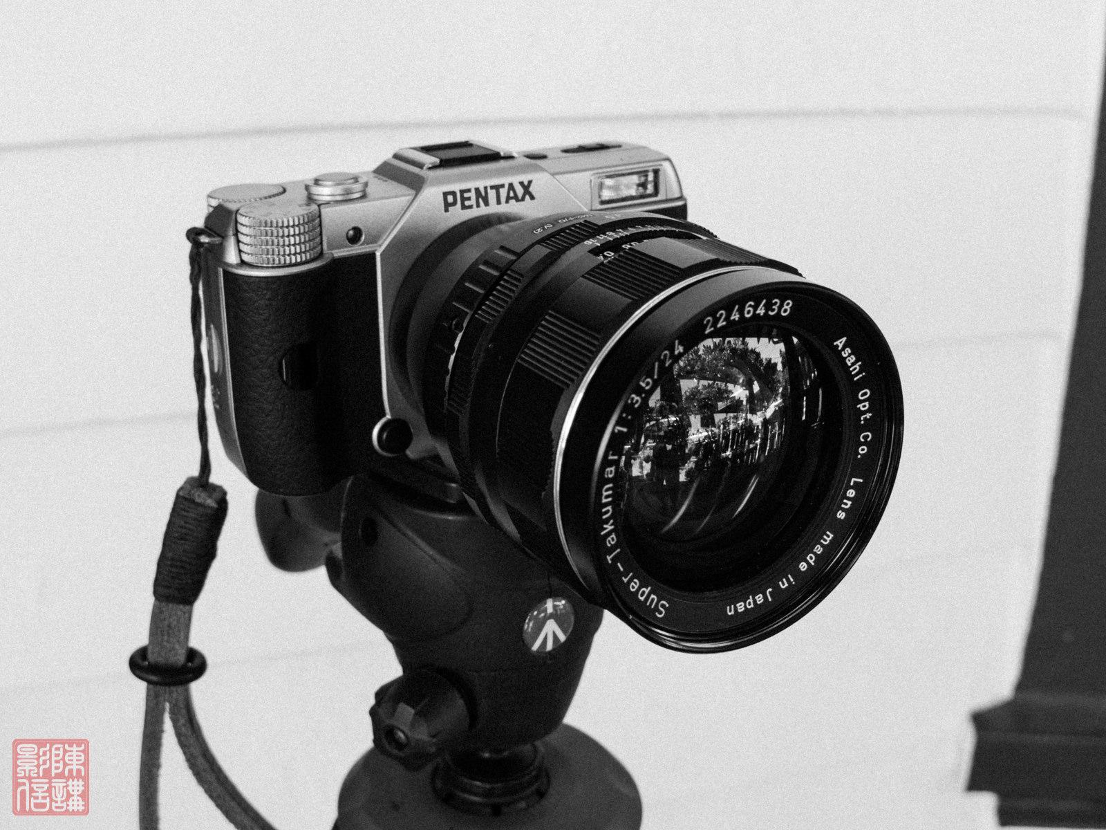 Digitale Pentax Q7 mit M42-Objektiv