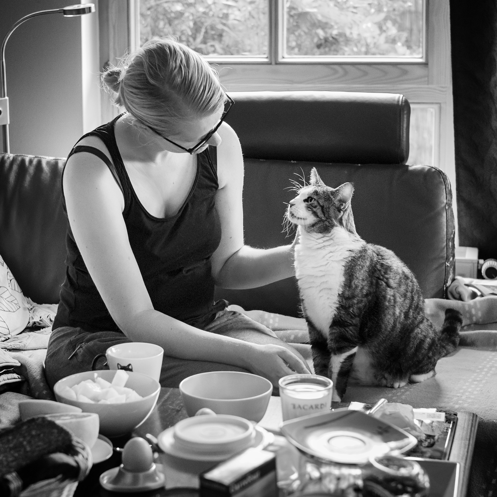Katze Frau Intimität