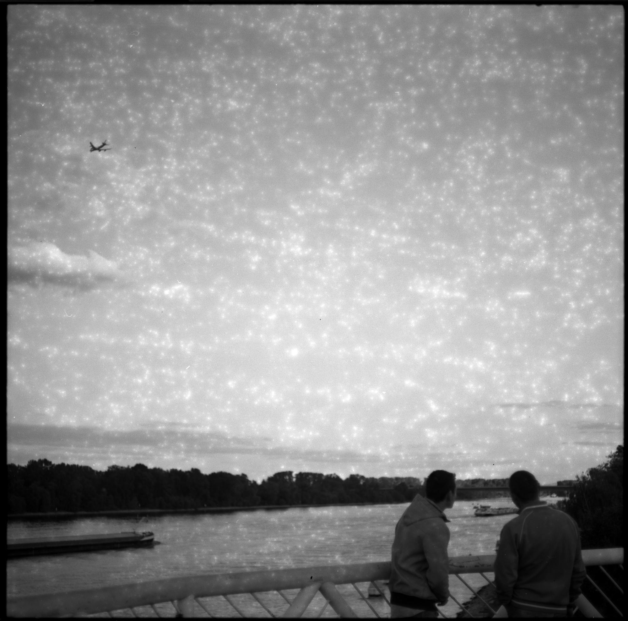 Aufnahme mit überlagertem Film