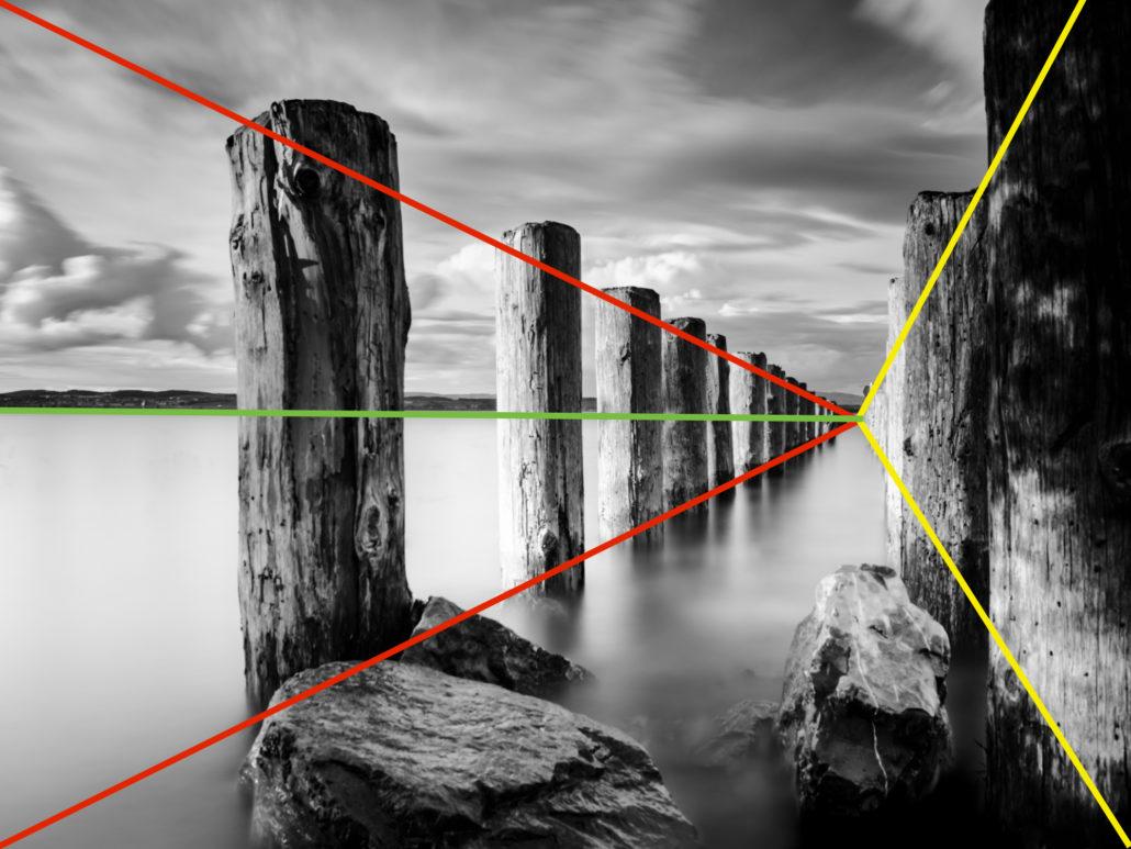 Zu viel Symmetrie, Horizont genau mittig