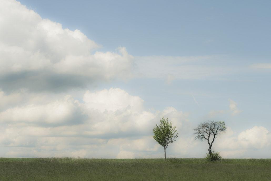 Weichgezeichnete Wolken, leichter Beschnitt.