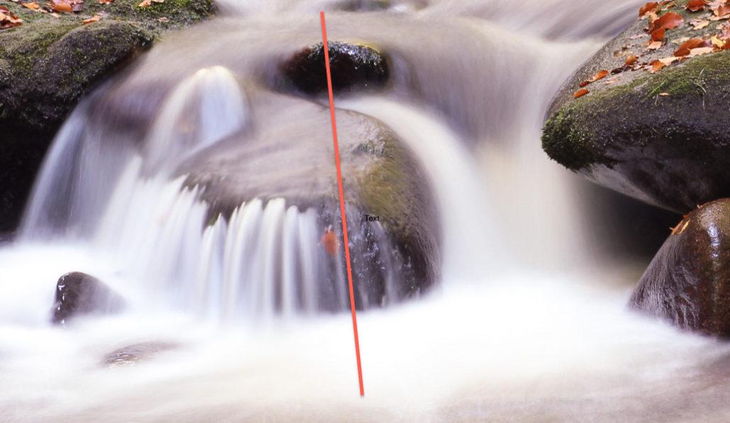 Falllinie des Wassers
