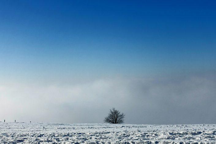 Fotografie einer Schneelandschaft